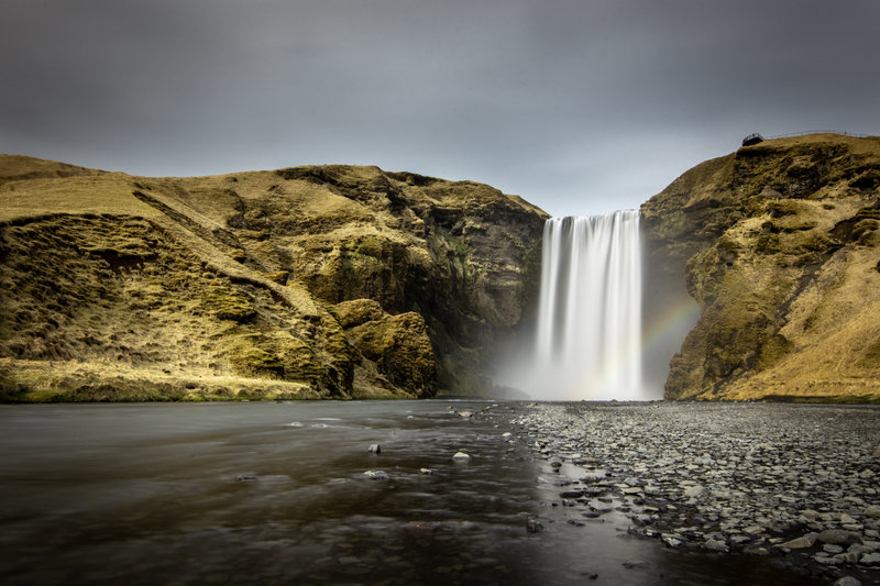 waterfall long exposure in Iceland