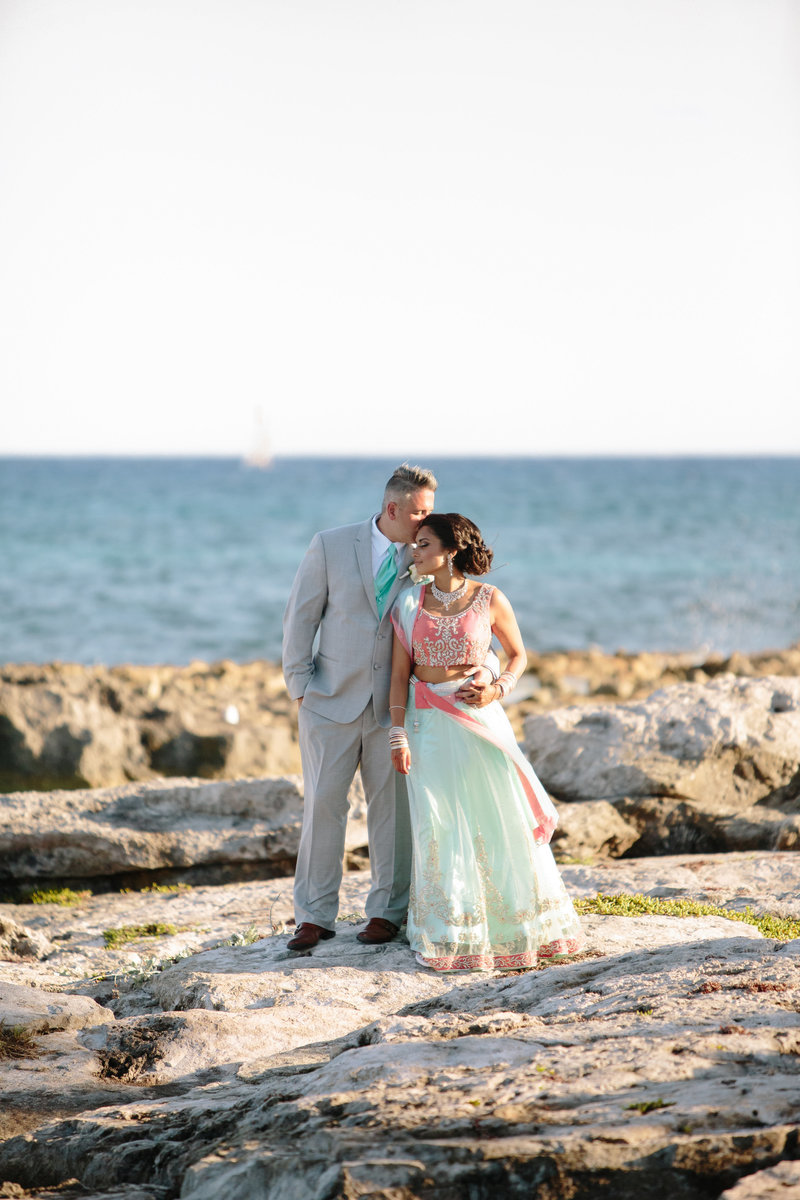 A casual 3 day destination wedding in Mexico with Christian and Hindu ceremonies by Leigh Wolfe Photography. Photography for genuine, joyful, adventurous brides.
