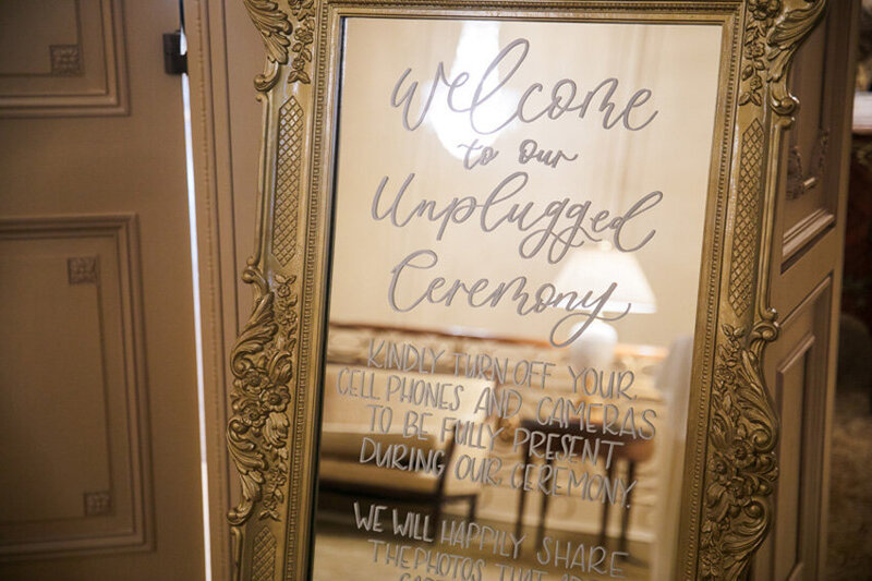 pirouettepaper.com | Wedding Stationery, Signage and Invitations | Pirouette Paper Company | Welcome + Unplugged Signs 52