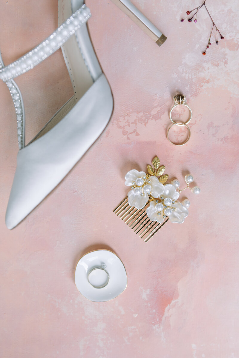 bella belle shoes on wedding day