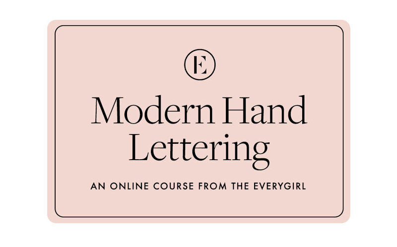 The Everygirl Courses Gift Card Modern Hand Lettering