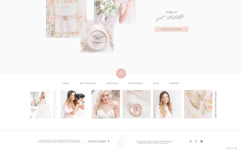 Handcrafting Heartfelt Brand & Website Designs for Female Creatives |  Showit | Showit Templates | by Viva la Violet | Belinda Jean Photography