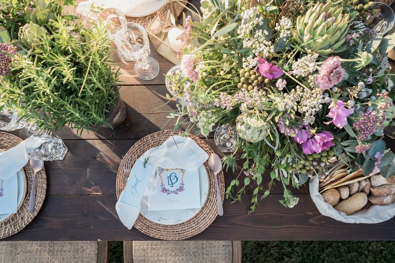 flowers and table wedding
