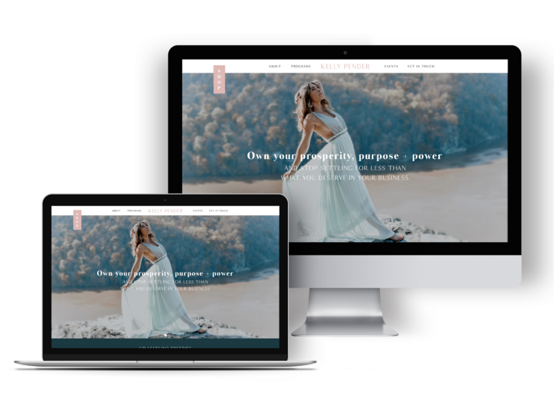 Yoga Business Website Design by Becca Luna