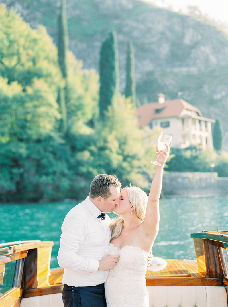 Boat Wedding In Lake Como