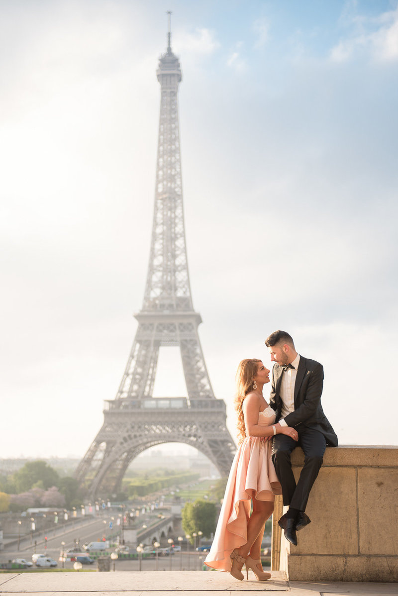 Couples photography in Paris at Eiffel Tower for Christina & Gorge May 2017-2