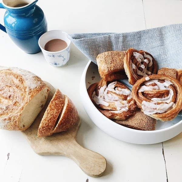 scandinavian baked goods hygge fika food styling for instagram chelsea loren branding photographer