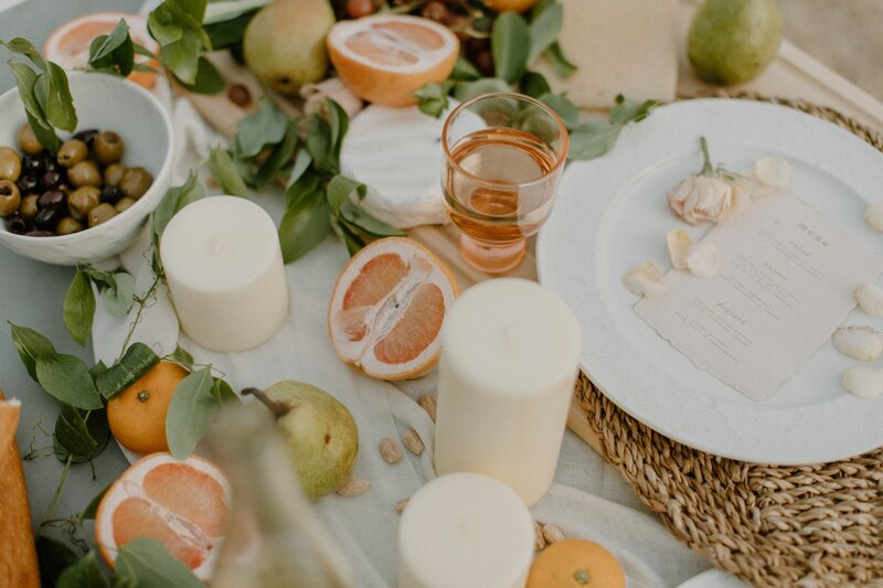 fruit tablescape