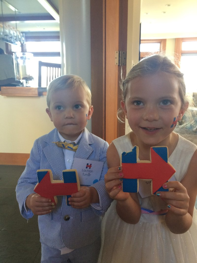 Photo of kids at family fundraising event for Hillary Clinton by Jenny Schneider Events.