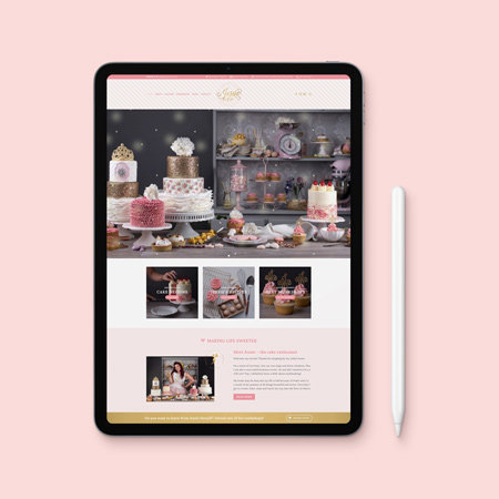 website design for creative cake maker