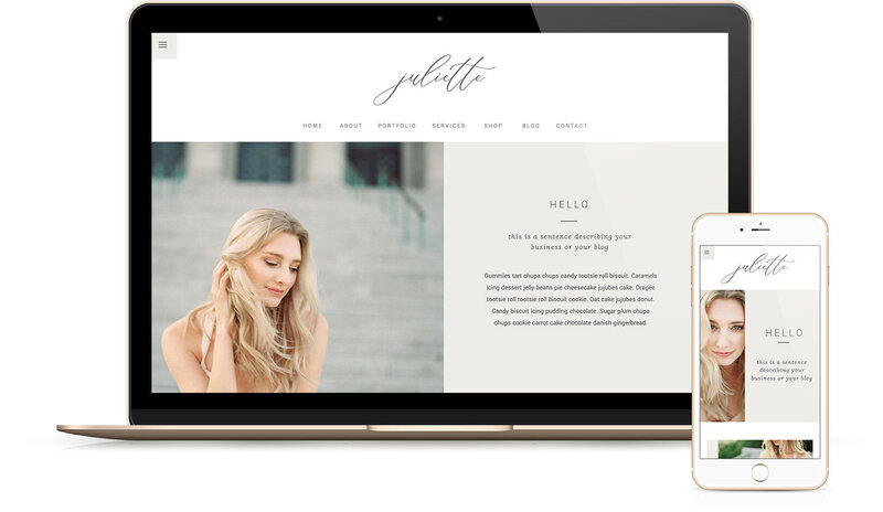 Showit Website Templates | Viva la Violet | Simone