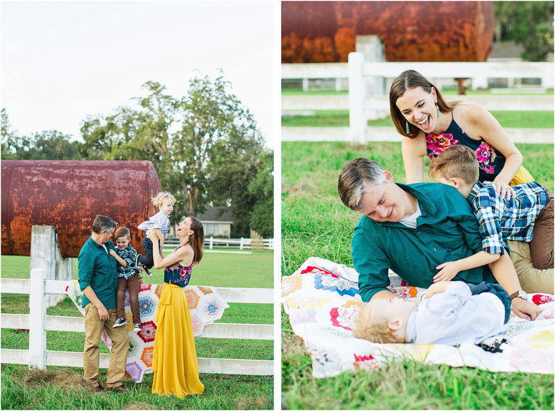 farm rustic family portraits