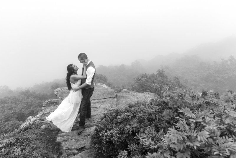 Asheville wedding photographer, craggy pinacle engagement, craggy pinacle (1)