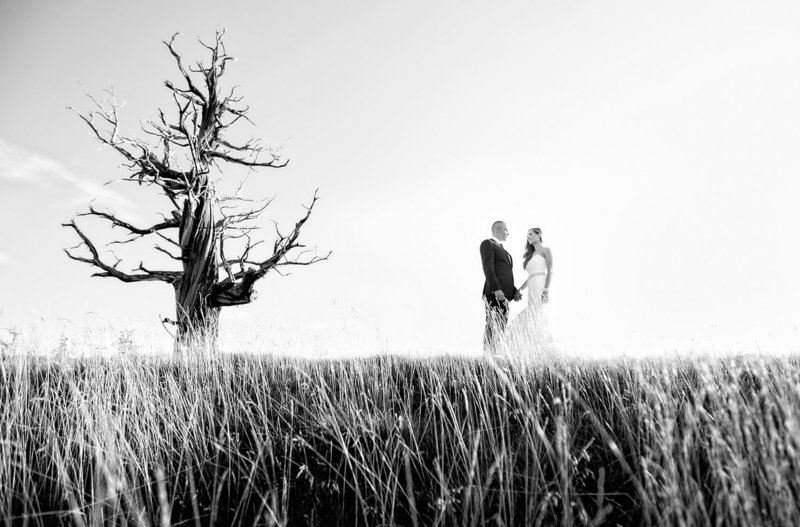San Diego Destination wedding photos dramatic black and white
