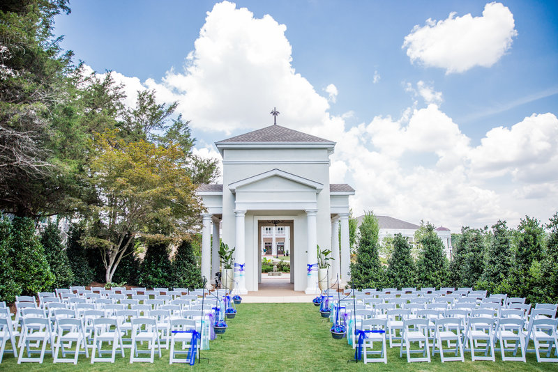 The Celebration Garden, a popular wedding spot at the Huntsville Botanical Garden