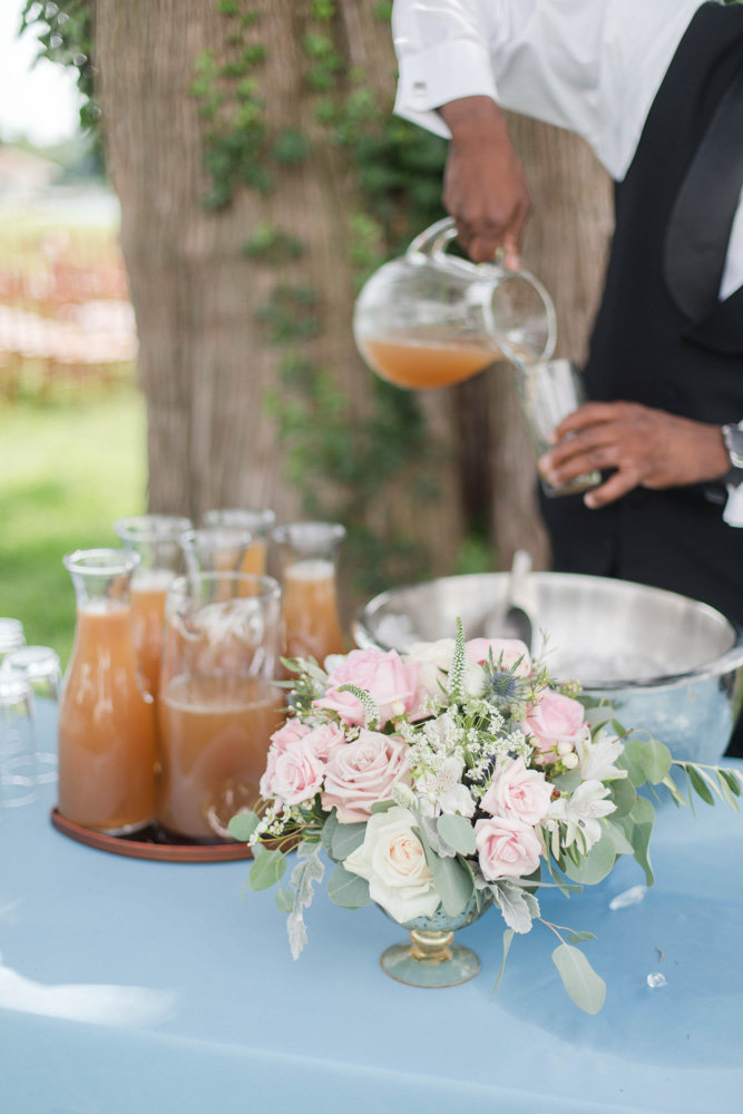 wedding signature drinks at eastern shore wedding at kirkland manor by costola photography