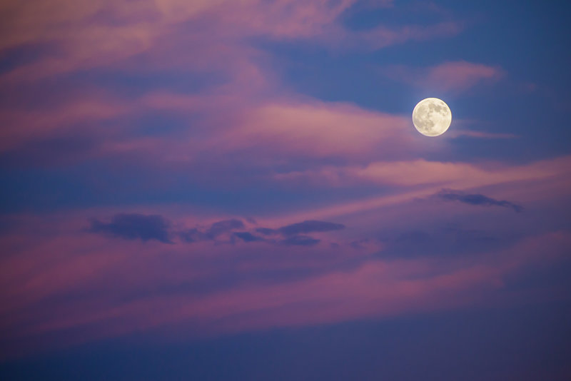 Cotton Candy Skies and Moon