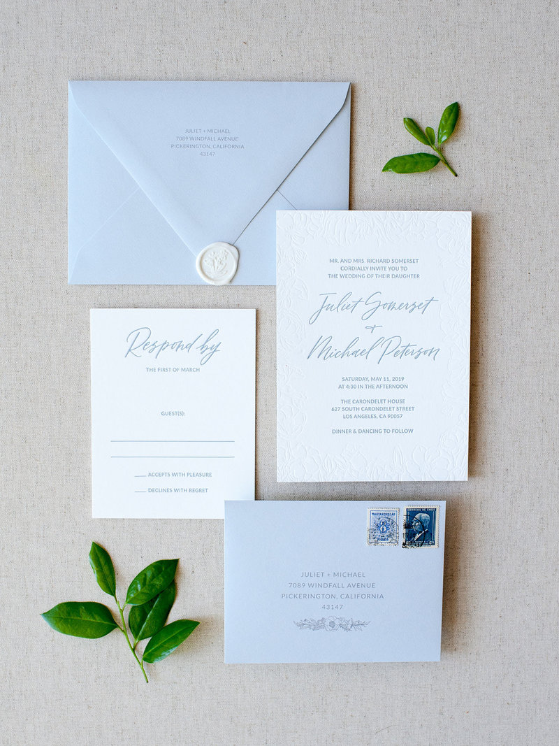 4-Piece Semi-Custom Invitation Collection - Wild Bouquet