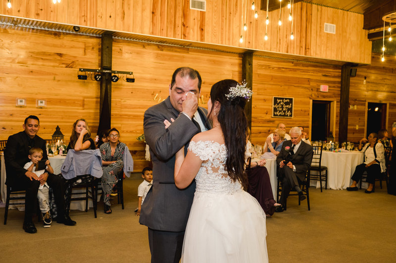 father daughter dance at Club Lake Plantation