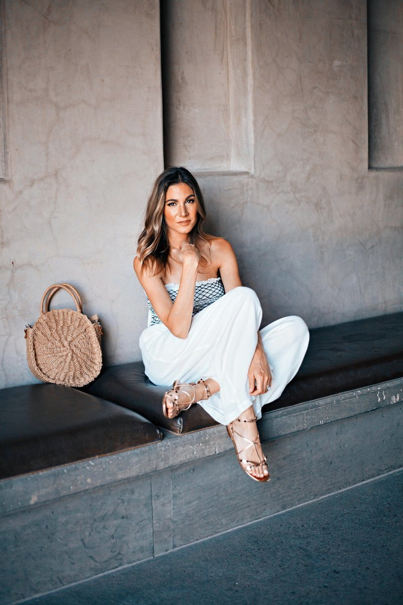 Venessa Kaufman Strapless Top White Pants