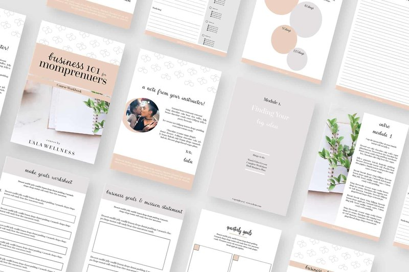 Momprenuer Opt In Template For Canva Or Indesign