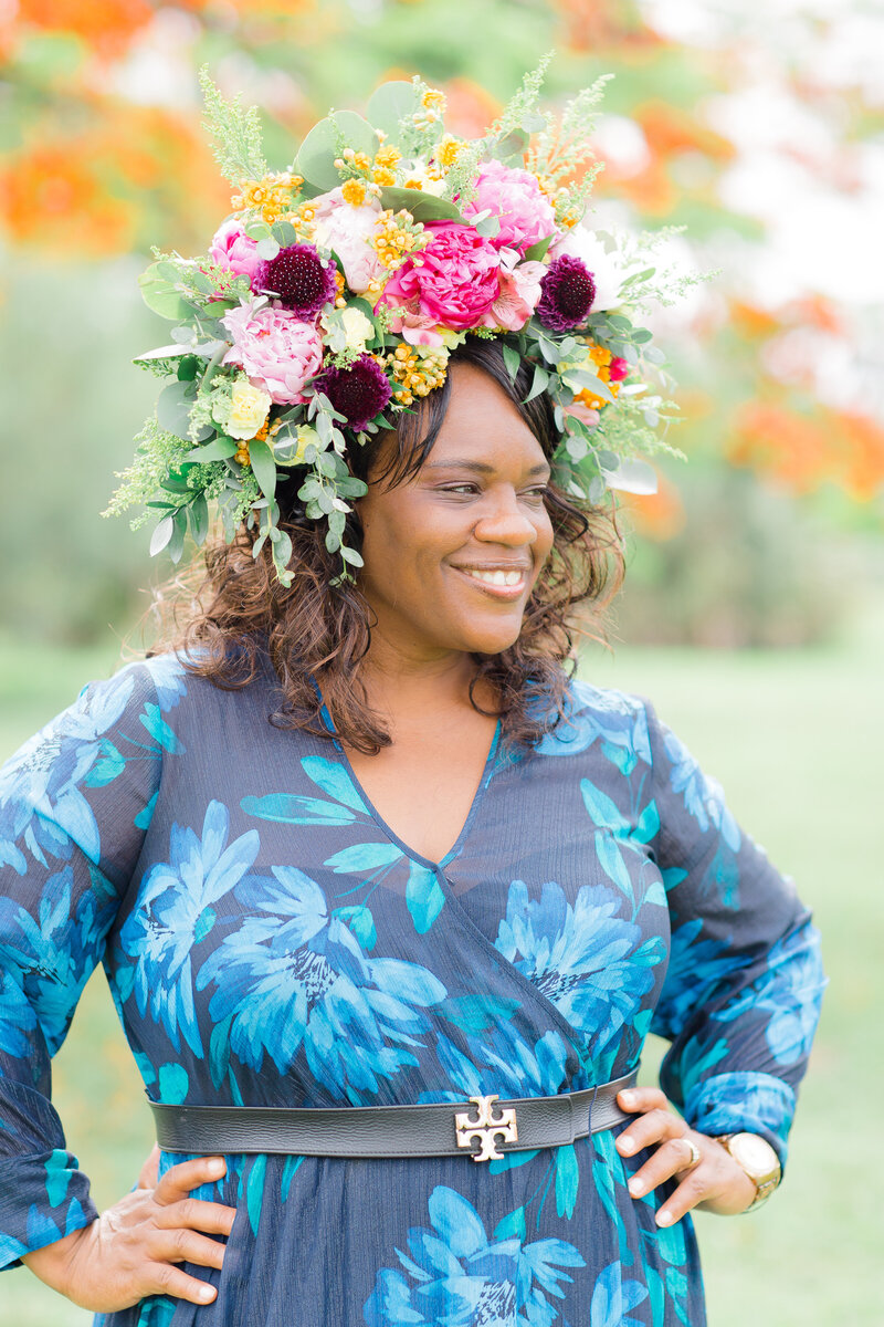 Marcia Beautiful Kreations Floral Headpiece