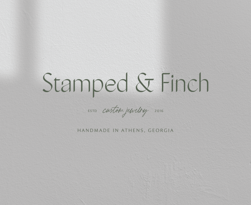 Primary logo for Stamped & Finch, an Athens, Georgia based jewelry designer.