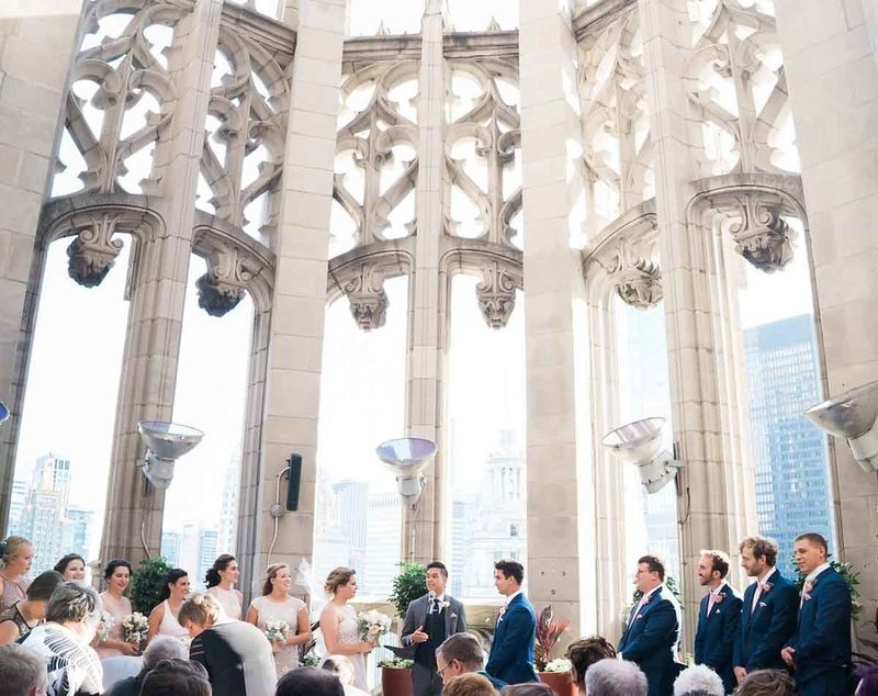 Chicago fine art bride and groom church wedding
