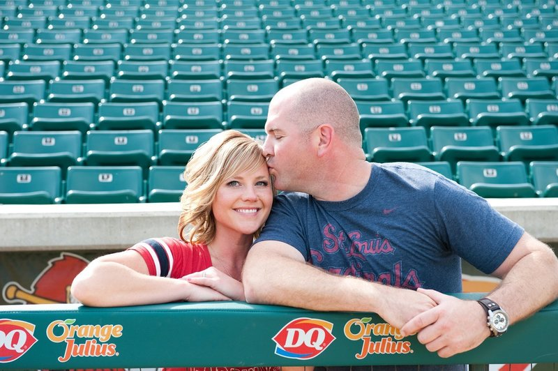 Fargo Red Hawks Engagement session at the stadium by kris kandel (8)