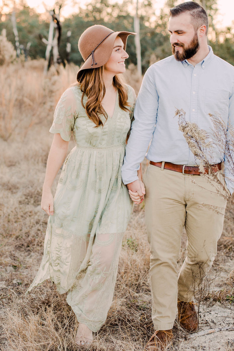 Rustic field engagement Session
