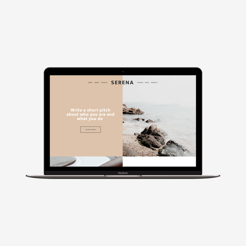 The Roar Showit Web Design Website Template Serena Responsive Macbook