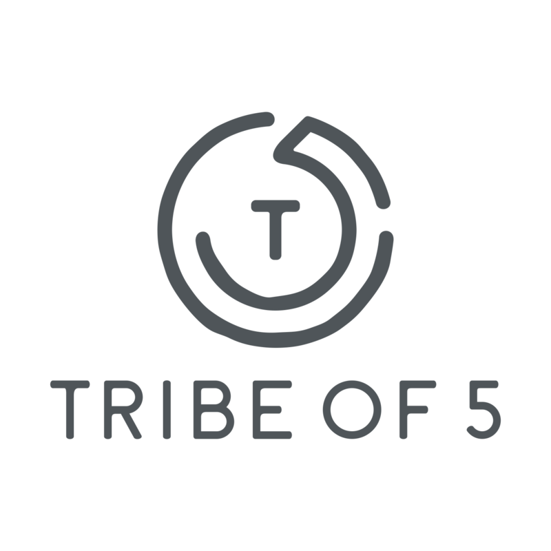 TRIBE OF 5 ( LOGO 3 ) WHITE BACKGROUND