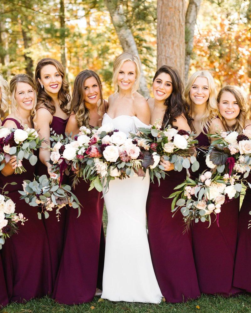 Fall-Wedding-Grand-View-Lodge-Bride-Bridesmaids-Minnesota