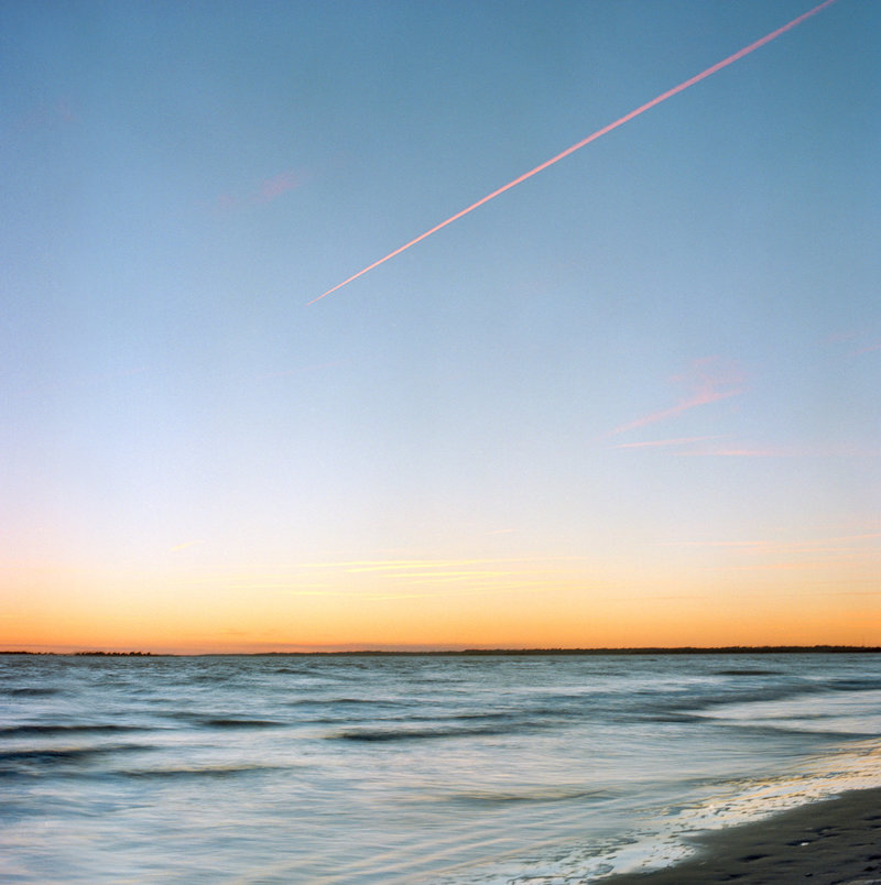 A sunset on Sullivan's Island beach, South Carolina