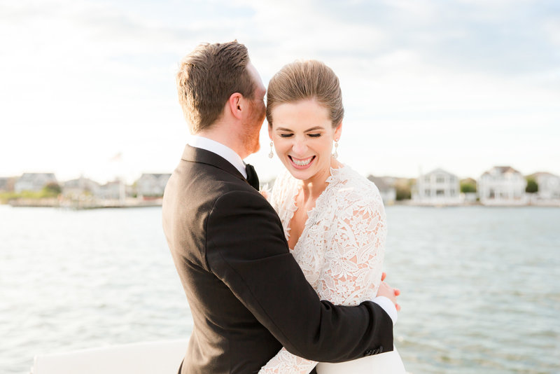 Authentic wedding photo at Bay Head Yacht Club