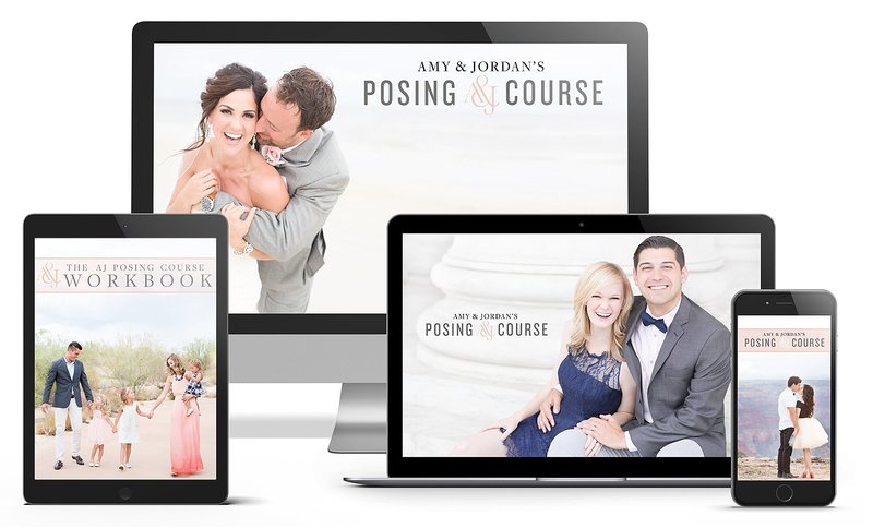 Amy & Jordan's online photography course on posing | Posing Course