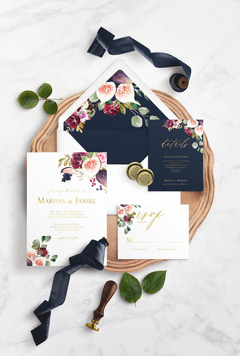 floral_pomegranate_wedding_invitation_suite
