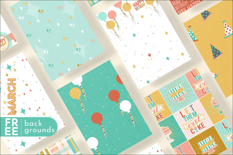 3-Free Background-March-Rhonna Designs