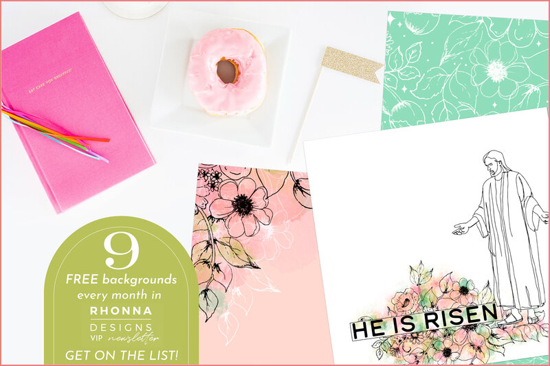 4- Free Backgrounds Rhonna Designs APRIL Newsletter