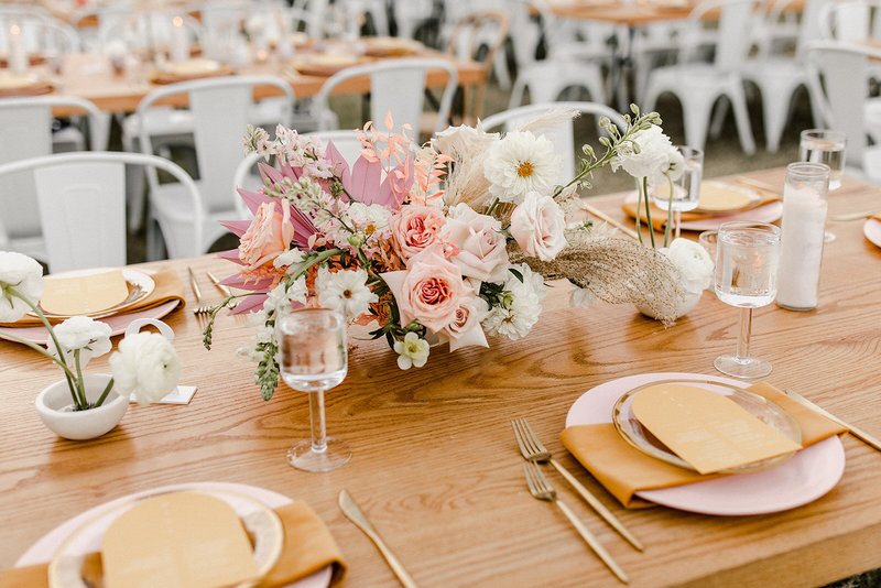Palm Springs pastel colored wedding day