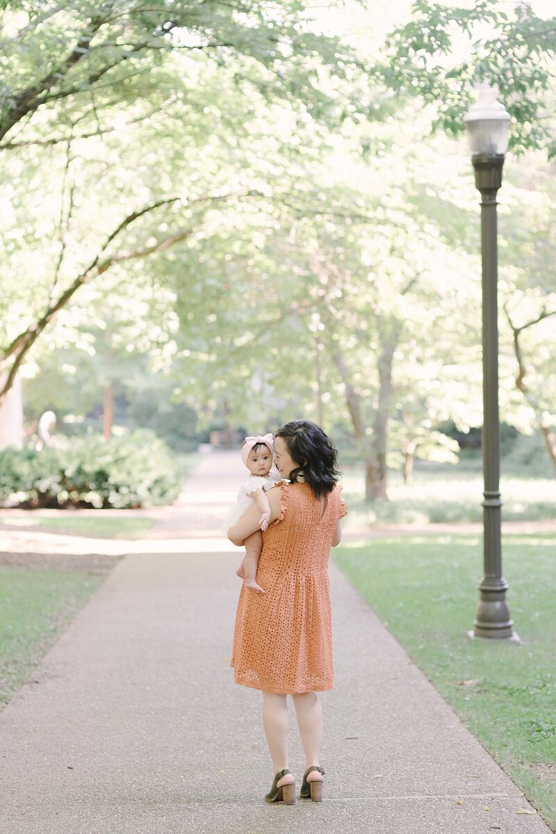Vanderbilt University Family Session with Nashville Family Photographer Dolly DeLong Photography with Asher and Ashley