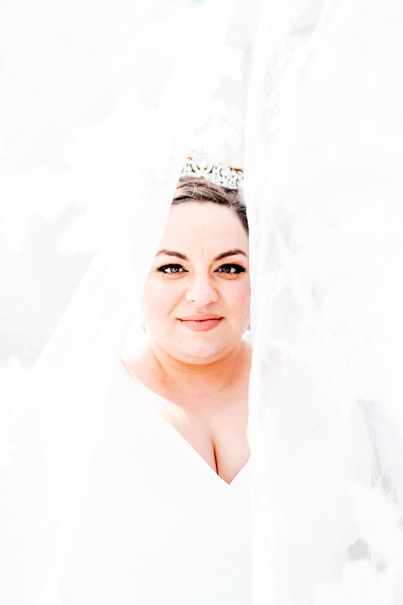 Salt Lake City Wedding Photographer Love Melissa Photography Bridal Veil Portrait.