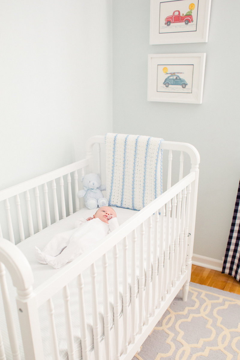 in home newborn portrait of nursery
