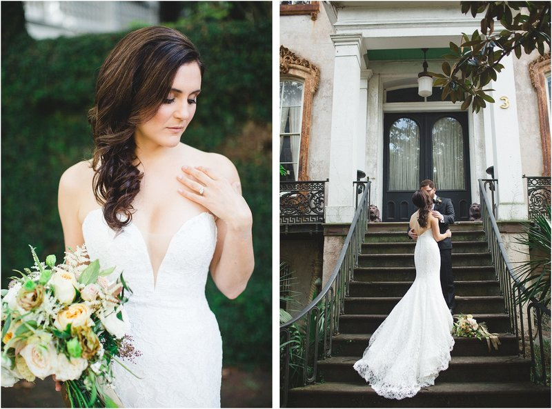 romantic fall savannah wedding