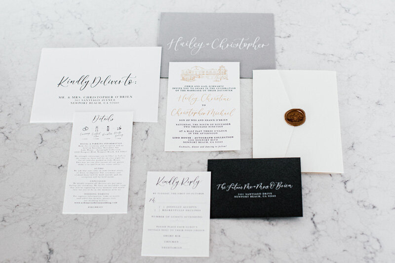 pirouettepaper.com _ Wedding Stationery, Signage and Invitations _ Pirouette Paper Company _ Lido House Newport Beach Wedding _ Leah Hardy Photography  (23)