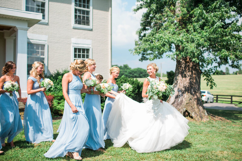 Bride and bridesmaids Talon Winery Wedding