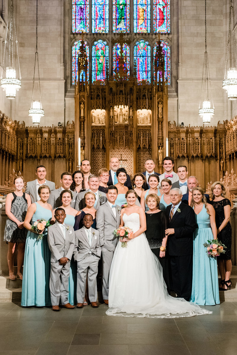 family portrait duke chapel wedding
