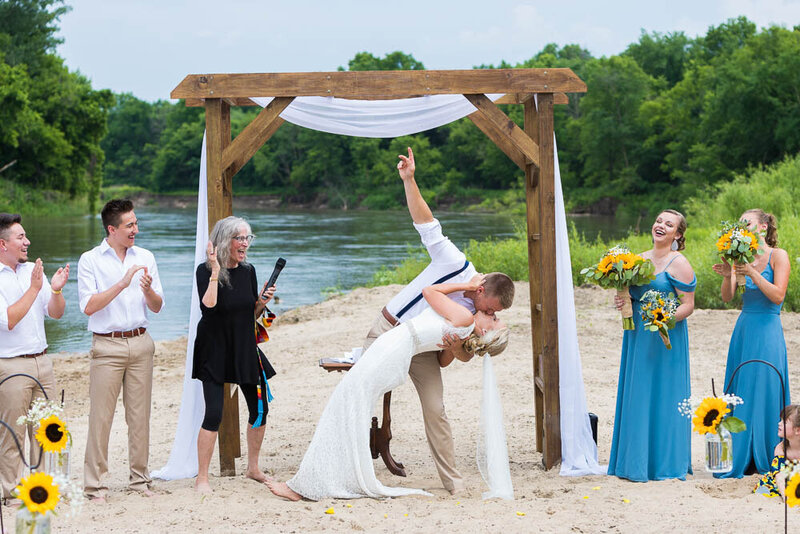 Alex & Kendra Vix wanted a beach wedding and they got it!  Sand between her toes and all.
