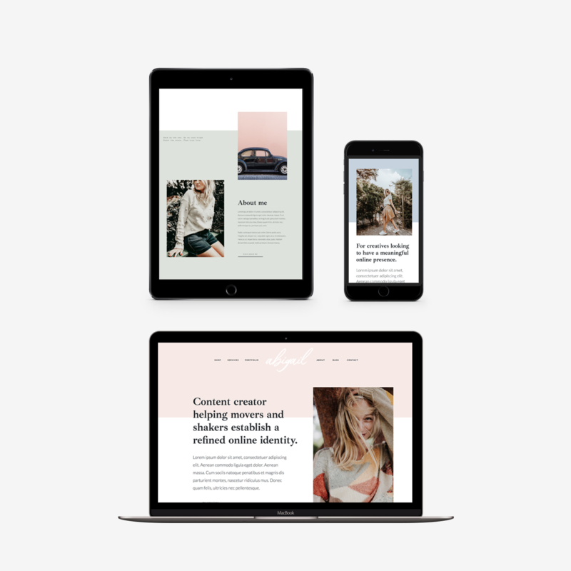 The Roar Showit Web Design Website Template Abigail Responsive