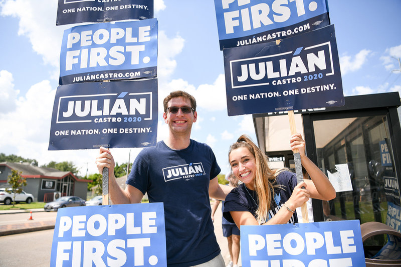 Julian Castro 2020 democratic primary supporters